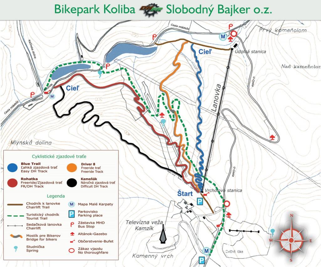 Mapa-Bikepark-Koliba-2017